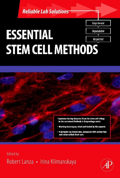 Abbildung von Lanza / Klimanskaya | Essential Stem Cell Methods | 2009