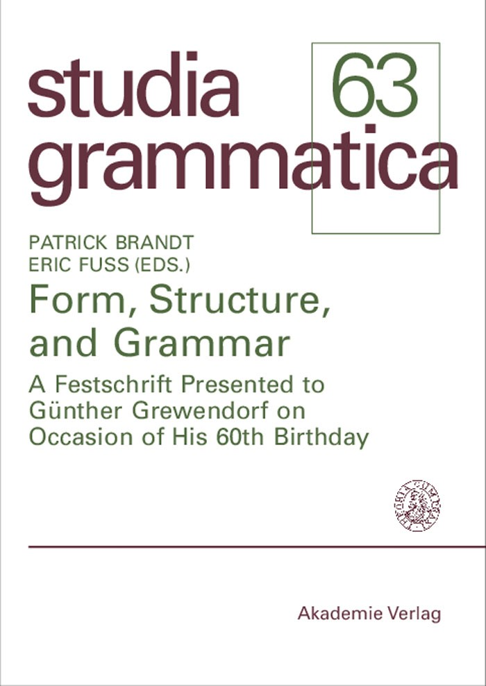 Form, Structure, and Grammar | Brandt / Fuß, 2006 | Buch (Cover)