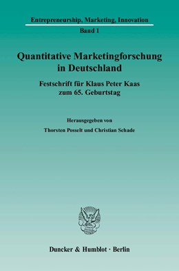 Abbildung von Posselt / Schade   Quantitative Marketingforschung in Deutschland   2005   Festschrift für Klaus Peter Ka...   1