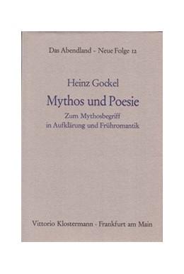 Abbildung von Gockel | Mythos und Poesie | 1981 | Zum Mythosbegriff in Aufklärun... | 12