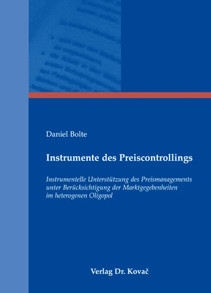 Instrumente des Preiscontrollings | Bolte, 2008 | Buch (Cover)