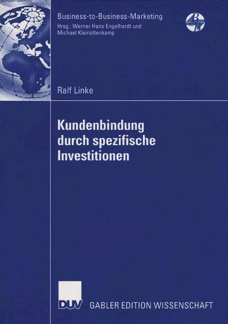 Kundenbindung durch spezifische Investitionen | Linke, 2006 | Buch (Cover)
