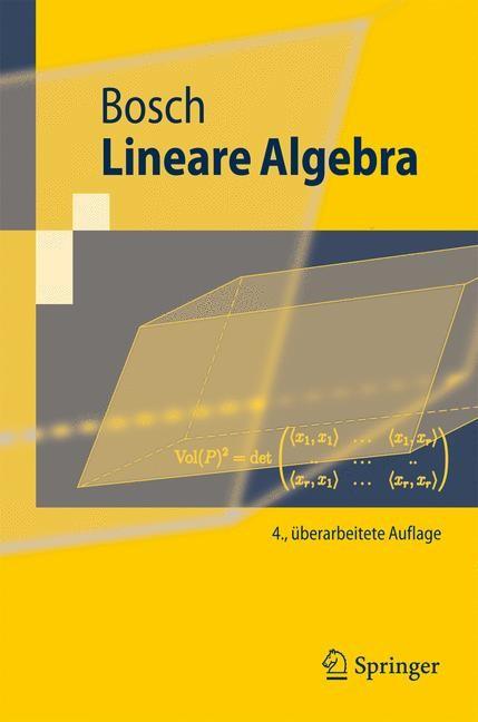 Lineare Algebra | Bosch | 4., überarb. Aufl., 2008 | Buch (Cover)