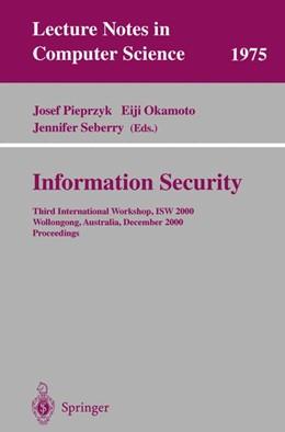 Abbildung von Pieprzyk / Okamoto / Seberry | Information Security | 2000 | Third International Workshop, ... | 1975