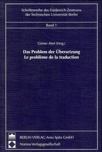 Das Problem der Übersetzung - Le problème de la traduction | Abel, 1999 | Buch (Cover)