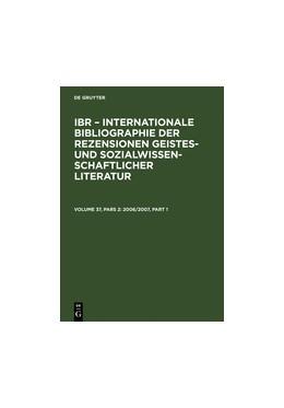 Abbildung von 2006/2007   Reprint 2011   2008   A: Autoren-Index. B: Rezensent...