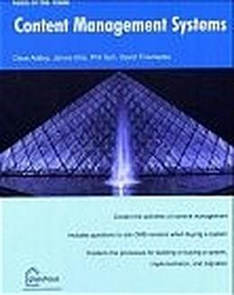 Abbildung von Addey / Ellis / Suh   Content Management Systems (Tools of the Trade)   1st ed.   2003   glasshaus