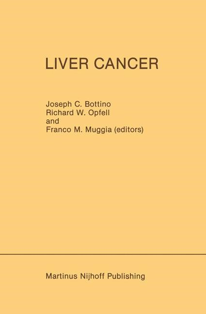 Liver Cancer | Bottino / Muggia / Opfell, 1985 | Buch (Cover)