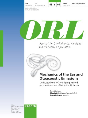 Mechanics of the Ear and Otoacoustic Emissions | Olson / Böhnke, 2006 | Buch (Cover)