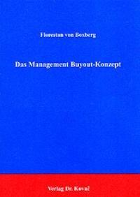Das Management Buyout-Konzept | Boxberg, 1992 | Buch (Cover)