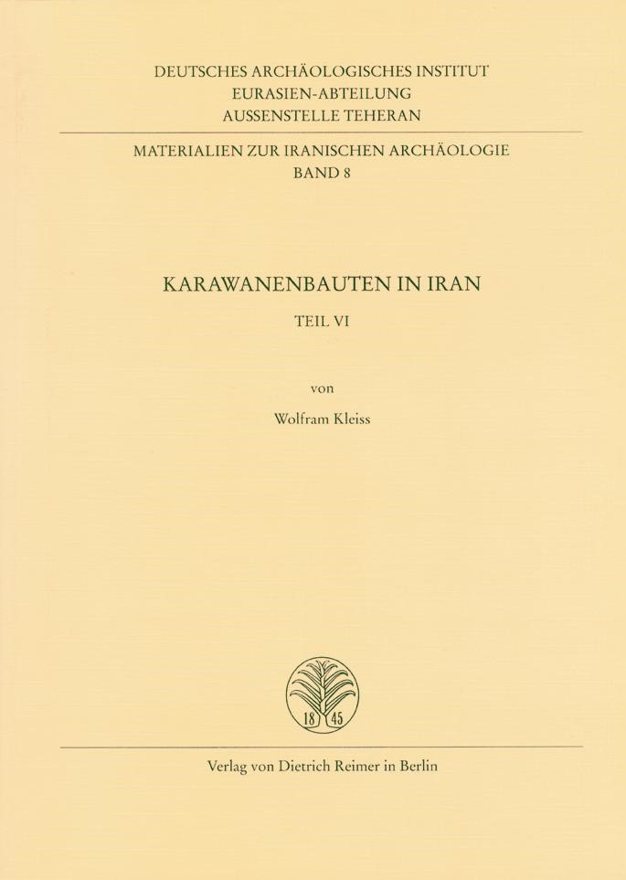 Karawanenbauten im Iran | / Kleiss, 2001 | Buch (Cover)