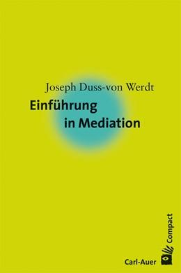 Abbildung von Duss von Werdt | Einführung in Mediation | 2008
