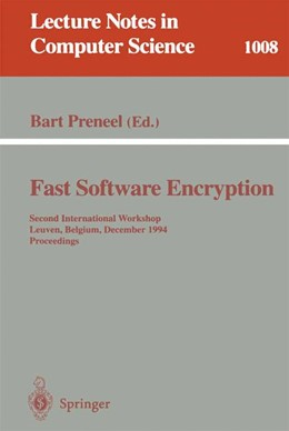 Abbildung von Preneel | Fast Software Encryption | 1. Auflage | 1995 | 1008 | beck-shop.de