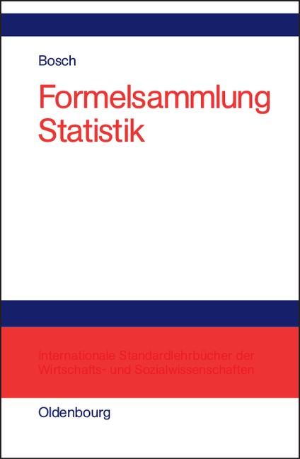Formelsammlung Statistik | Bosch | Reprint 2018, 2002 | Buch (Cover)
