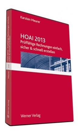 Abbildung von Meurer   HOAI 2013   2017   Prüffähige Rechnungen einfach,...