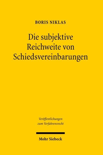 Abbildung von Niklas | Die subjektive Reichweite von Schiedsvereinbarungen | 1., Aufl. | 2008
