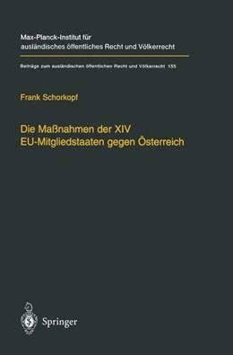 Abbildung von Schorkopf | Die Maßnahmen der XIV EU-Mitgliedstaaten gegen Österreich | 2002 | Möglichkeiten und Grenzen eine... | 155