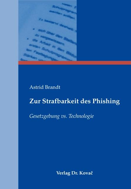 Zur Strafbarkeit des Phishing | Brandt, 2010 | Buch (Cover)