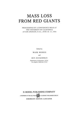 Abbildung von Morris / Zuckerman | Mass Loss from Red Giants | 1985 | Proceedings of a Conference he... | 117