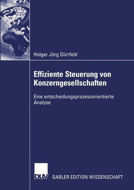 Effiziente Steuerung von Konzerngesellschaften | Dürrfeld, 2003 | Buch (Cover)
