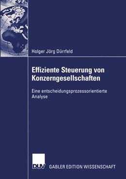 Abbildung von Dürrfeld | Effiziente Steuerung von Konzerngesellschaften | 2003 | Eine entscheidungsprozessorien...
