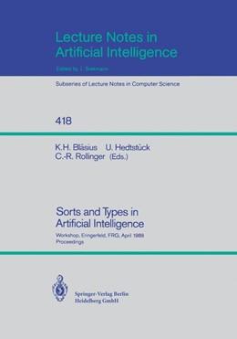 Abbildung von Bläsius / Hedtstück / Rollinger | Sorts and Types in Artificial Intelligence | 1990