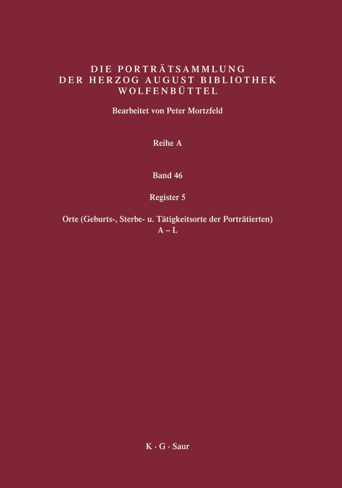 Register 5 | Mortzfeld / Herzog August Bibliothek, 2007 | Buch (Cover)