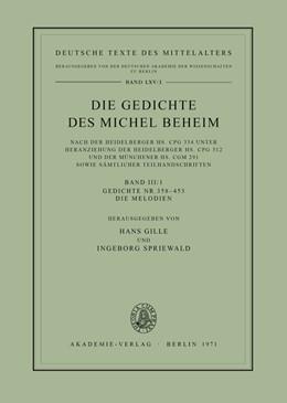Abbildung von Gille / Spriewald | Gedichte Nr. 358–453. Die Melodien | 1995 | Gedichte Nr. 358–453. Die Melo... | 65/1