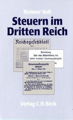 Steuern im Dritten Reich | Voß, 1995 | Buch (Cover)