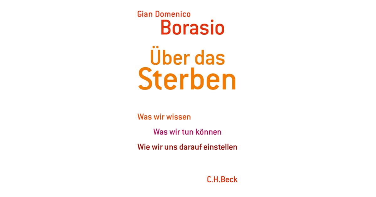 Über das Sterben | Borasio, Gian Domenico | Hardcover