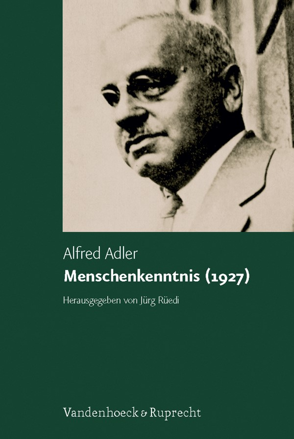 Menschenkenntnis (1927) | Adler / Rüedi, 2007 | Buch (Cover)