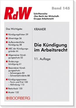 Abbildung von Kramer   Die Kündigung im Arbeitsrecht   2008   145