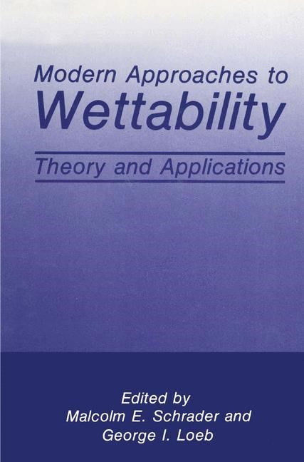 Modern Approaches to Wettability | Loeb / Schrader, 1992 | Buch (Cover)