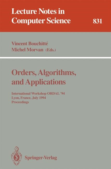 Orders, Algorithms and Applications | Bouchitte / Morvan, 1994 | Buch (Cover)