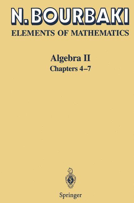 Algebra II | Bourbaki | 1st ed. 1990. 2nd printing, 2003 | Buch (Cover)