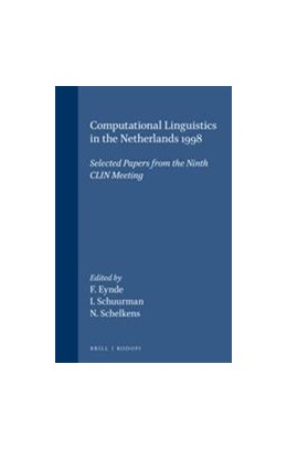 Abbildung von Computational Linguistics in the Netherlands 1998 | 2000 | Selected Papers from the Ninth... | 29