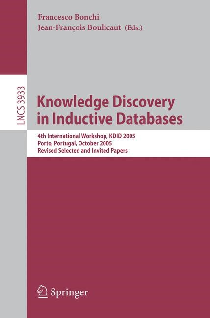 Abbildung von Bonchi / Boulicaut | Knowledge Discovery in Inductive Databases | 2006