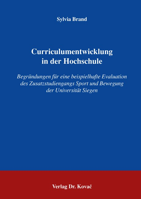 Curriculumentwicklung in der Hochschule | Brand, 2006 | Buch (Cover)