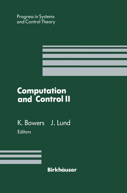 Computation and Control II | Bowers / Lund, 1991 | Buch (Cover)