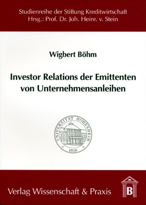 Abbildung von Böhm   Investor Relations der Emittenten von Unternehmensanleihen   2004