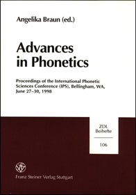 Advances in Phonetics | Braun, 1999 | Buch (Cover)