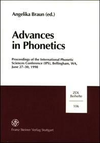 Abbildung von Braun | Advances in Phonetics | 1999