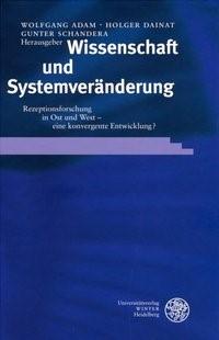 Wissenschaft und Systemveränderung | Adam / Dainat / Schandera, 2003 | Buch (Cover)
