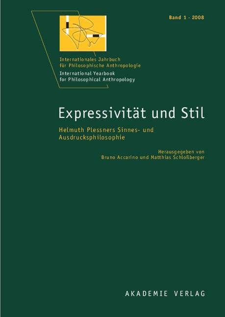Expressivität und Stil | Accarino / Schloßberger, 2008 | Buch (Cover)
