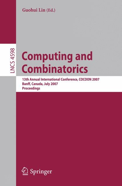 Computing and Combinatorics | Lin, 2007 | Buch (Cover)