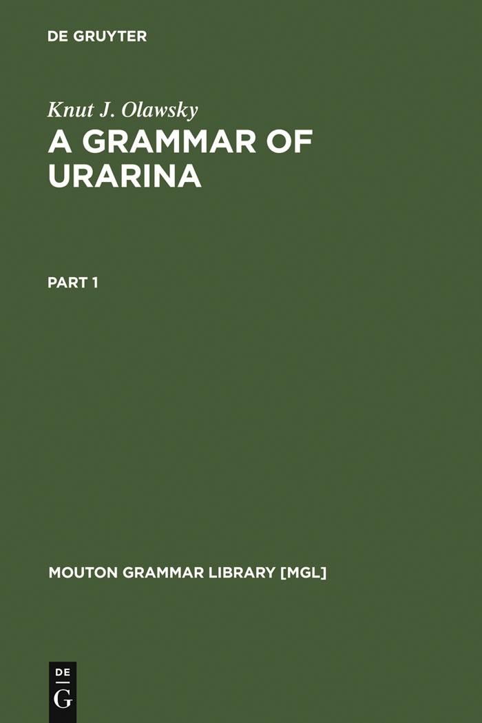 A Grammar of Urarina | Olawsky, 2006 | Buch (Cover)