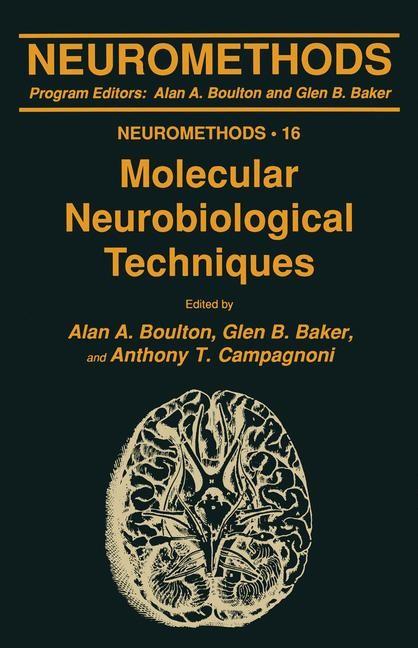 Molecular Neurobiological Techniques | Boulton / Baker / Campagnoni, 1989 | Buch (Cover)