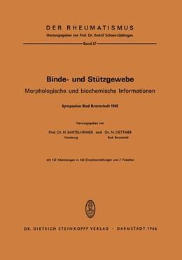 Abbildung von Bartelheimer / Dettmer   Binde- und Stützgewebe   1994   Morphologische und Biochemisch...   37