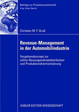 Abbildung von Gruß   Revenue-Management in der Automobilindustrie   2008   Vorgehenskonzept zur online Ne...