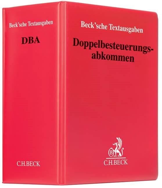 Doppelbesteuerungsabkommen: DBA | 30. Auflage (Cover)